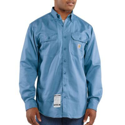 Flame-Resistant Classic Twill Shirt with Pocket Flaps