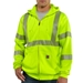 High-Visibility Zip-Front Class 3 Sweatshirt - 100503
