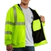High-Visibility Zip-Front Class 3 Thermal-Lined Sweatshirt - 100504